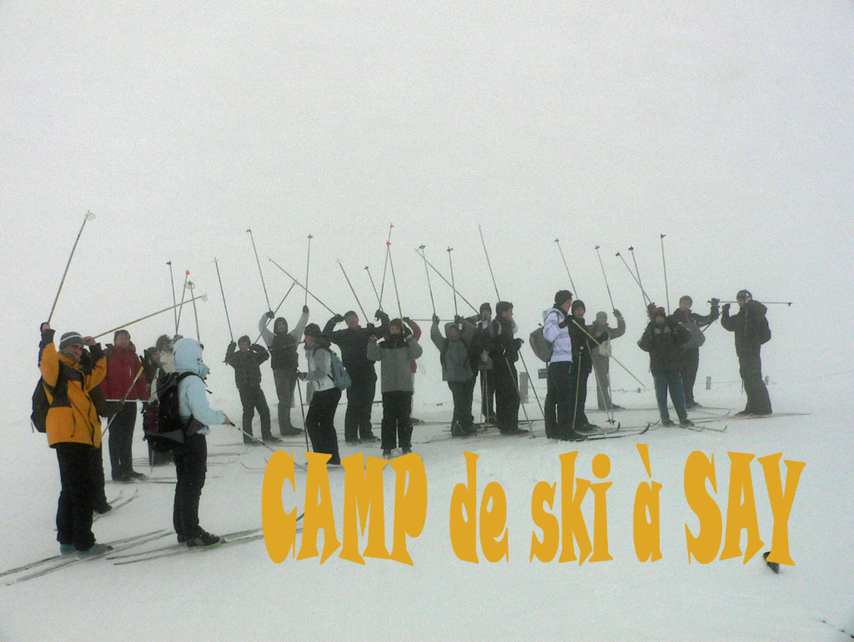 Camp de ski à Say en 2011
