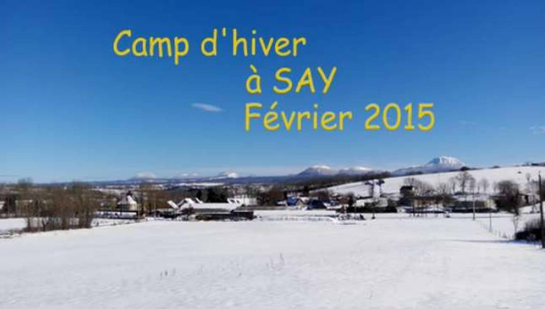 Camp de ski à Say en 2015