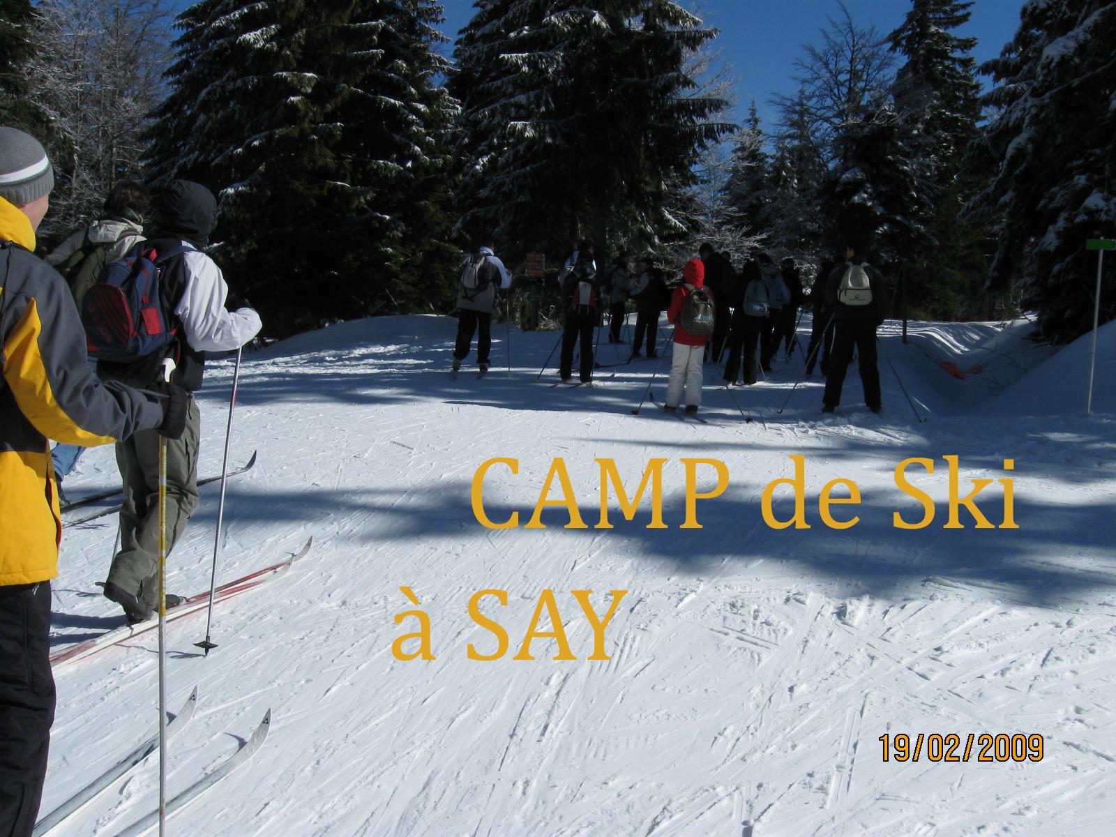 Camp de ski à Say en 2009